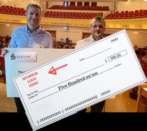 Pitch Prize Sponsor Big Check