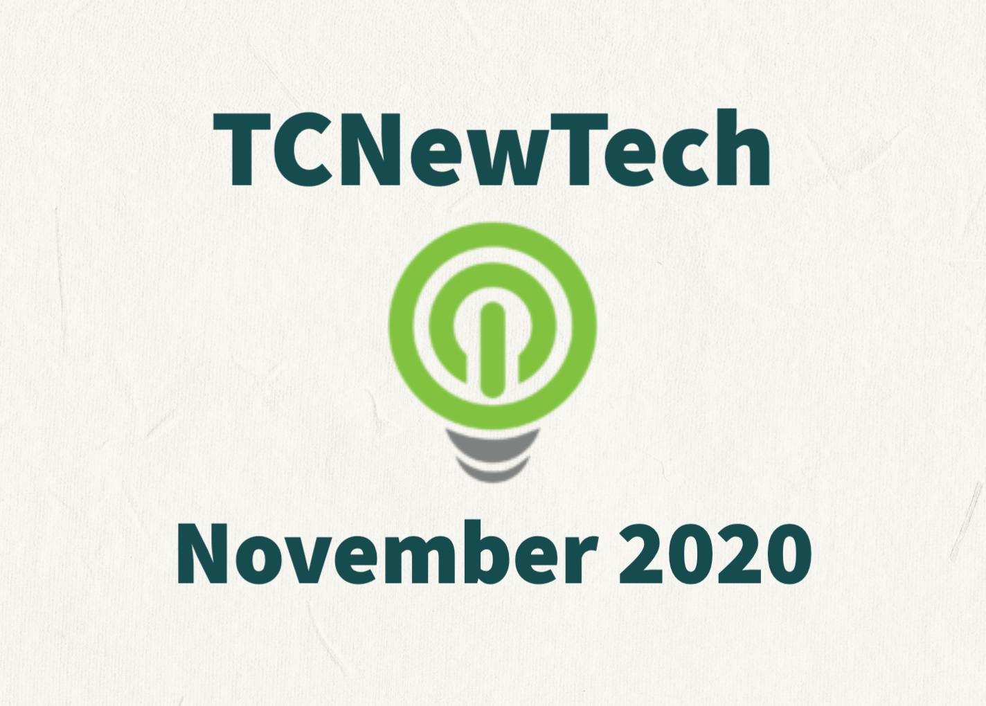 TCNewTech Pitch Contest November 2020