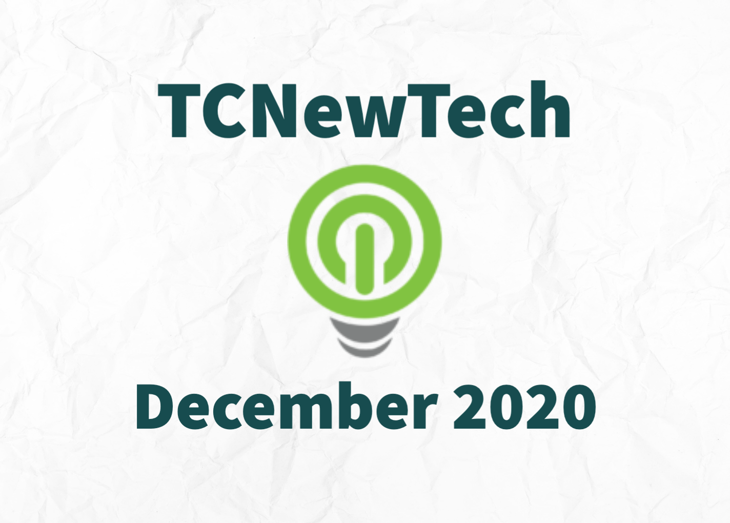TCNewTech Pitch Contest December 2020