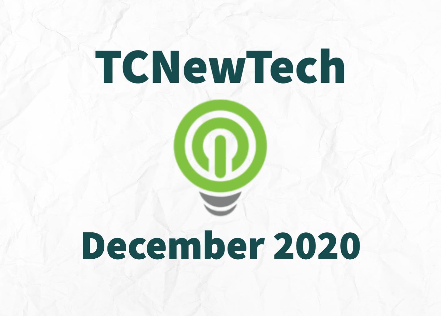 TCNewTech Pitch Contest December 2020