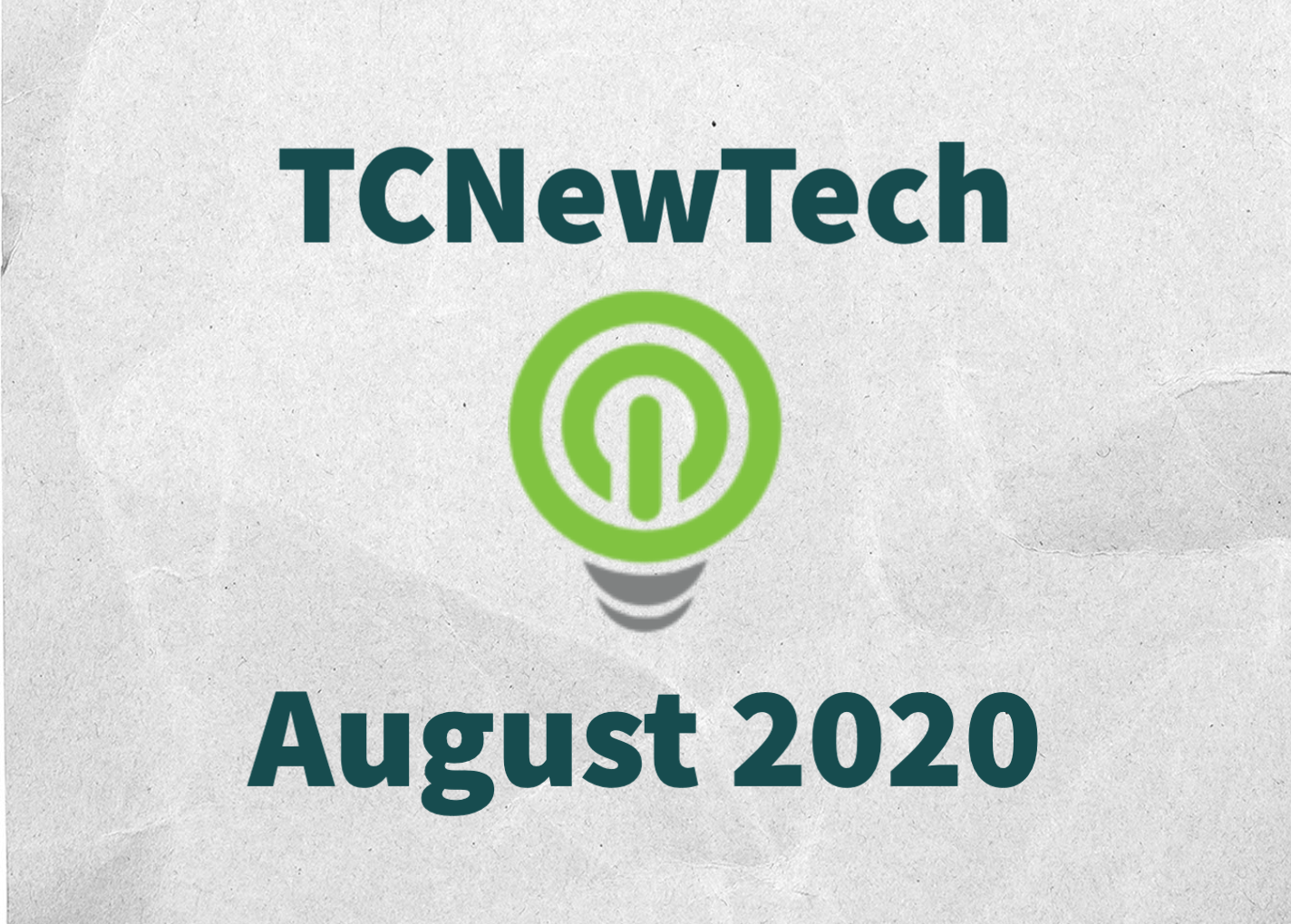 TCNewTech Pitch Contest August 2020