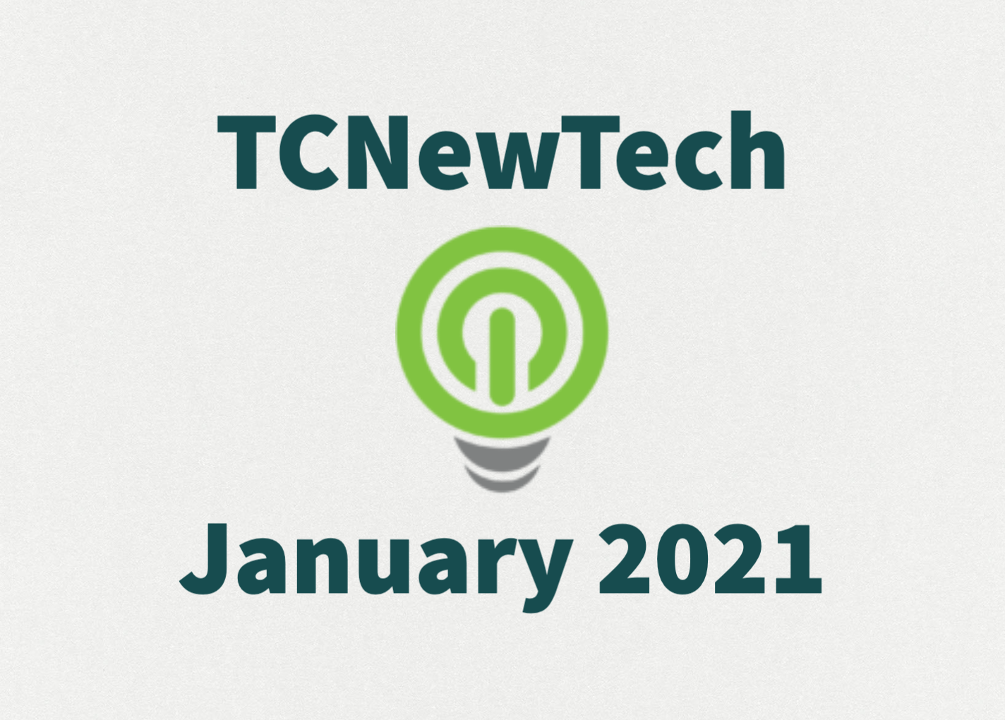 TCNewTech Pitch Contest January 2021