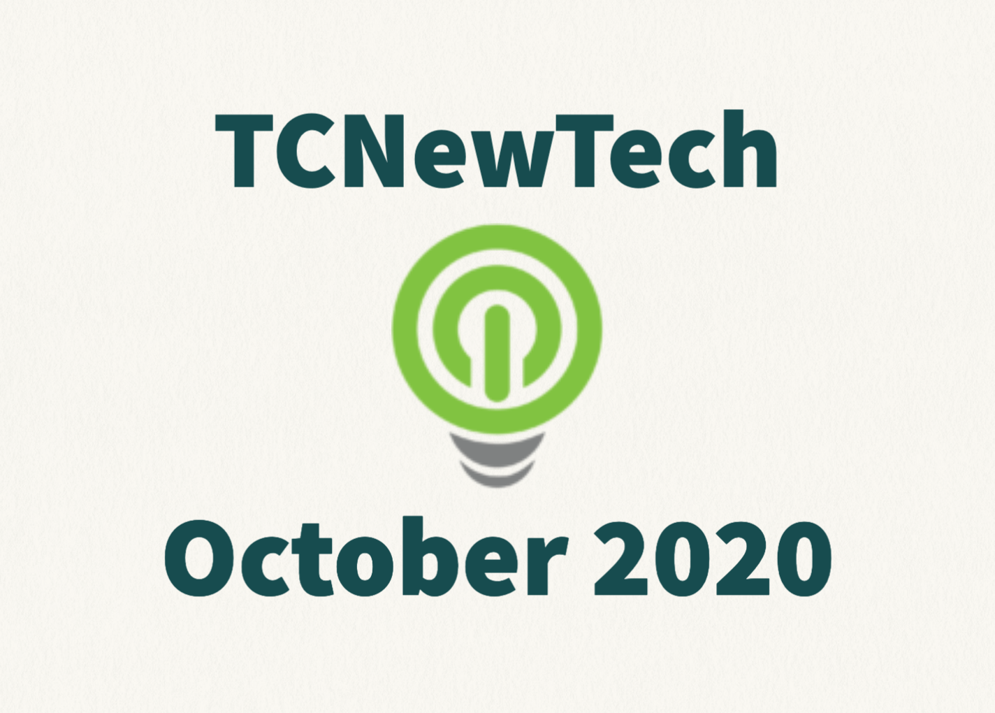 TCNewTech Pitch Contest October 2020